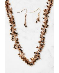 South Moon Under - Brown Iridescent Beaded Necklace - Lyst