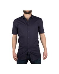 Minimum - Men's Macon Shortsleeved Shirt, Blue Men's Short Sleeved Shirt In Blue for Men - Lyst