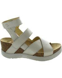 Fly London   Wege Women's Sandals In White   Lyst