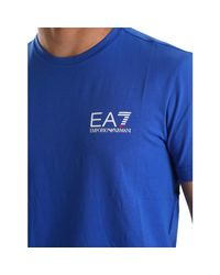 EA7 - 3ypt52 Pj03z T-shirt Man Blue Men's T Shirt In Blue for Men - Lyst