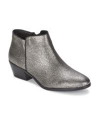 b2d432cd3699c Sam Edelman Petty Women s Low Ankle Boots In Silver in Metallic - Lyst