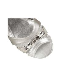 Lotus - Metallic Valeria Womens Dress Sandals Women's Sandals In Silver - Lyst
