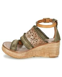 Airstep / A.S.98 - Noa Women's Sandals In Green - Lyst