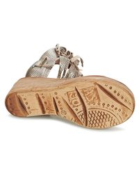 Airstep / A.S.98 - Metallic Noa Women's Sandals In Silver - Lyst