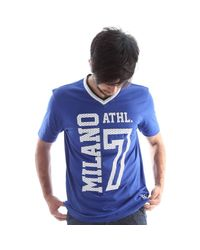 EA7 - 273957 6p677 T-shirt Man Men's T Shirt In Blue for Men - Lyst
