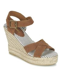Superdry | Isabella Espadrille Wedge Shoe Women's Sandals In Brown | Lyst