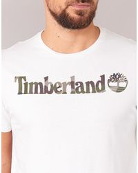 Timberland - Dunstan River Camo Print Men's T Shirt In White for Men - Lyst