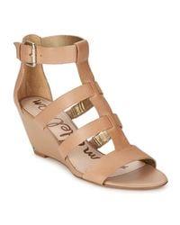 Sam Edelman | Natural Sabrina Women's Sandals In Beige | Lyst