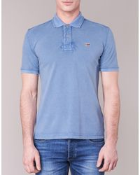 Napapijri | Taly Men's Polo Shirt In Blue for Men | Lyst