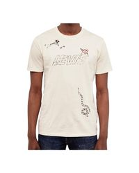 Levi's - Natural Levis Red Tab Drawn Graphic T-shirt Off White Men's T Shirt In Beige for Men - Lyst