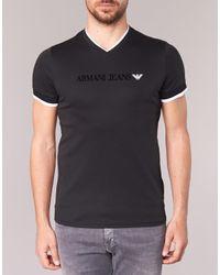 Armani Jeans | Pratoli Men's T Shirt In Black for Men | Lyst