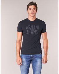 Armani Jeans - Rose Men's T Shirt In Blue for Men - Lyst