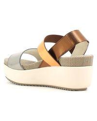 Stonefly - Gray 206011 Wedge Sandals Women Gun Women's Sandals In Grey - Lyst