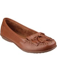 Hush Puppies - Ceil Mocc Women's Loafers / Casual Shoes In Brown - Lyst