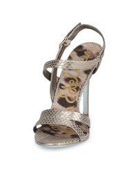 Sam Edelman - Metallic Abbott Women's Sandals In Silver - Lyst