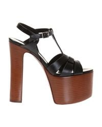 Saint Laurent - 461274b2u001000 Women's Sandals In Black - Lyst