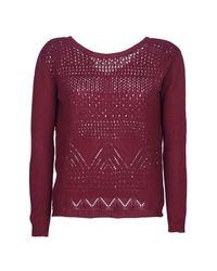 Betty London - Jeskoi Women's Sweater In Red - Lyst