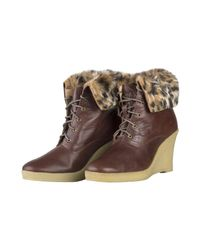 Mellow Yellow - Natural Yellow Kafka Dark Brown Women's Low Ankle Boots In Beige - Lyst