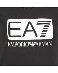 EA7 - Founarola Women's T Shirt In Black - Lyst