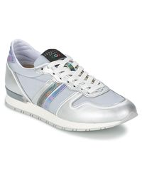 Serafini - Metallic Los Angeles Women's Shoes (trainers) In Silver - Lyst