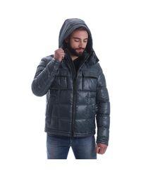 Geox - M6425e T2225 Down Jacket Man Verde Men's Coat In Green for Men - Lyst