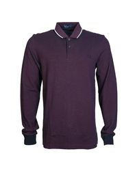 Fred Perry - Polo Shirts Top M3636 Men's Polo Shirt In Red for Men - Lyst