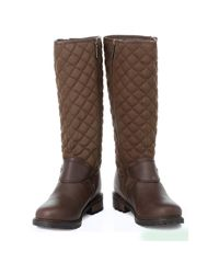 Barbour - Womens Brown Hoxton Boots Women's High Boots In Brown - Lyst