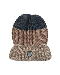 c79aa86f174 Ea7 Ea7 By Emporio Armani Beanie Hat In Navy Blue Grey And Brown 27 ...