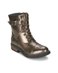 Les P'tites Bombes - Metallic Stone Women's Mid Boots In Silver - Lyst
