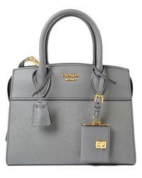 5067da085045 Lyst - Prada Saffiano+city Calf Handle Bag