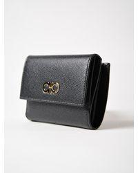 Ferragamo - Black Gancini Wallet - Lyst