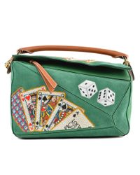 Loewe - Green Puzzle Playing Card Bag - Lyst