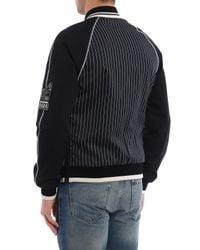 Dolce & Gabbana - Black Striped Bomber Patch for Men - Lyst