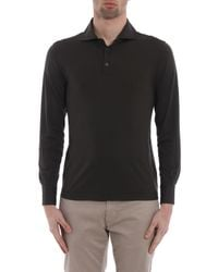 Cruciani - Black L/s Polo Shirt for Men - Lyst