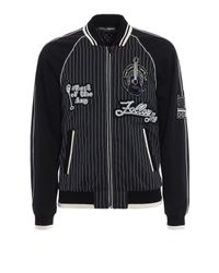 Dolce & Gabbana - Black Striped Bomber Patch for Men - Lyst