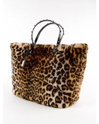 Dolce & Gabbana Multicolor Eco Fur Leo Shopping Bag