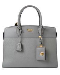 eed27dc808a8 Prada Saffiano+city Calf Handle Bag - Lyst
