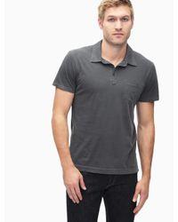 Splendid - Gray Pigment Polo Shirt for Men - Lyst