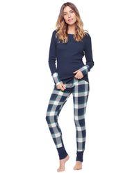 Splendid | Blue Two-Piece Plaid Top & Pants Pajama Set | Lyst