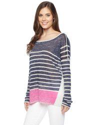 Splendid - Blue Linen Print Pullover - Lyst
