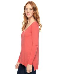 Splendid - Red Cashmere Blend Pullover - Lyst