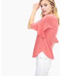 Splendid - Pink Flutter Sleeve V-neck Top - Lyst