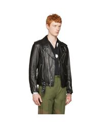 3.1 Phillip Lim - Black Leather Biker Jacket for Men - Lyst
