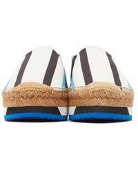Dolce & Gabbana - Blue Tricolor Striped Espadrilles - Lyst