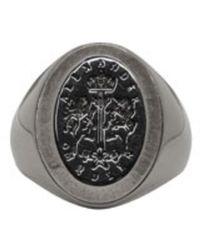 Alexander McQueen - Metallic Silver Signet Ring for Men - Lyst