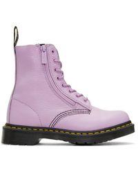 Dr. Martens | Purple Pascal Boots | Lyst