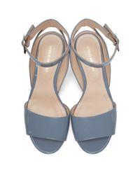 Nicholas Kirkwood - Blue Patent Lola Pearl Sandals - Lyst
