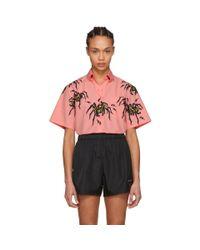 Prada - Pink Spider Comic Shirt - Lyst