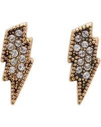 Marc Jacobs - Metallic Gold Lightning Coin Earrings - Lyst