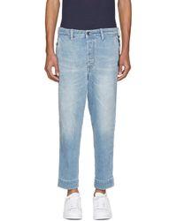 DIESEL - Blue Carrot Chino Jeans for Men - Lyst